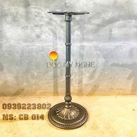 Chân Bàn Cafe Bar Đế Tròn Hoa Văn Cổ Điển Gang Đúc CB014