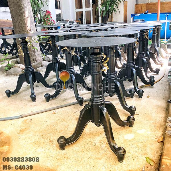 Chân Bàn Cafe Nhà hàng Ngoài Trời Nhôm Đúc Tăng Cao Thấp C4039