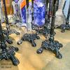 Chân Bàn Gang Đúc Ngoài Trời Cafe RuNam Bistro Gắn Mặt Đá Marble Viền Đồng C4040 - Hình 10