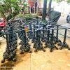 Chân Bàn Gang Đúc Ngoài Trời Cafe RuNam Bistro Gắn Mặt Đá Marble Viền Đồng C4040 - Hình 17