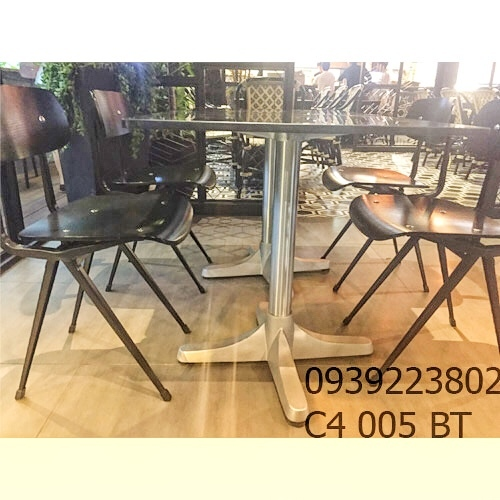 Chân Bàn Chữ Thập - Nhà Hàng Khách Sạn Nhôm Đúc C4005BT