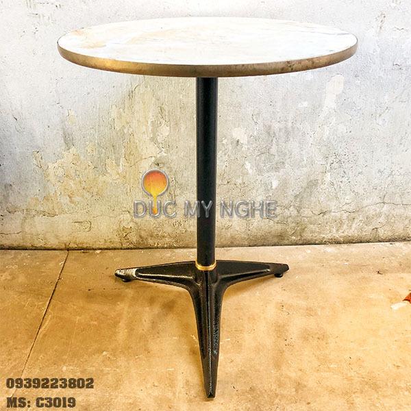 Chân Bàn Coffee House - Sắt Ống 3 Chân Gang Đúc - Nhà Hàng C3019