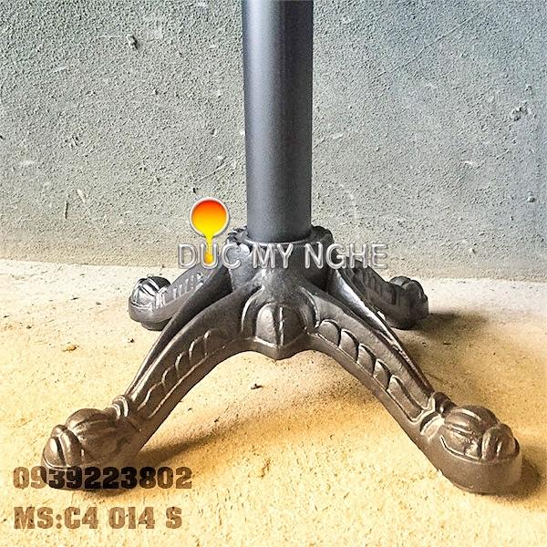 Chân Bàn Ngoài Trời Trụ Sắt 4 Chân Gang Đúc Giá Rẻ C4014S
