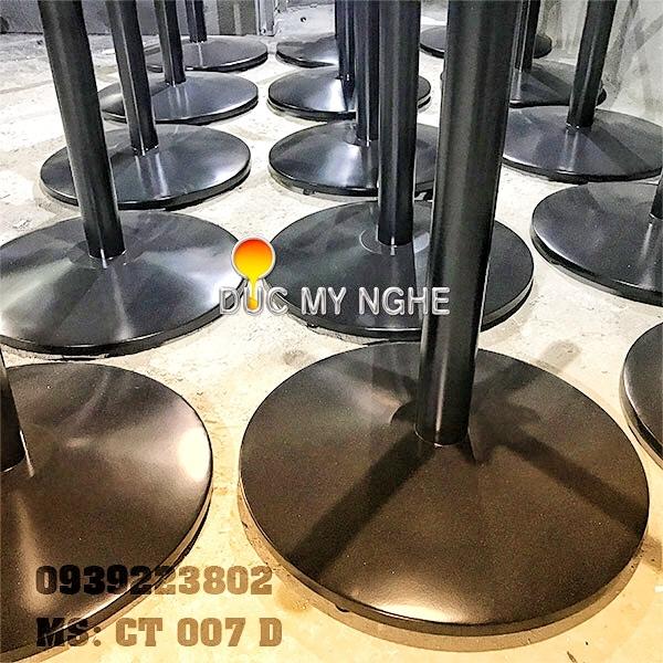 Chân Bàn Nhà Hàng Sắt Ống Đế Tròn 600mm Gang Đúc CT007D