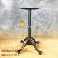 Chân Bàn Ống Sắt - Đế Chữ Thập Gang Đúc Sơn Tĩnh Điện C4018S