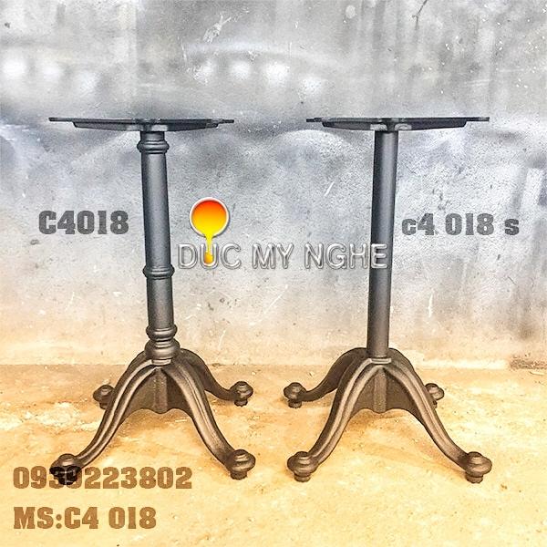 Chân Bàn Ống Sắt - Đế Chữ Thập Gang Đúc - Sơn Tĩnh Điện C4018S