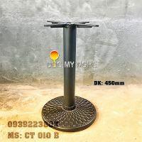 Chân Bàn Quán Ăn Nhanh Trụ Sắt Đế Tròn 450mm Gang đúc CT010B