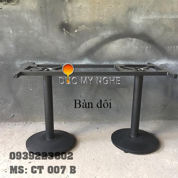 Chân Bàn Trụ Sắt Đế Tròn 450mm Gang Đúc Ngoài Trời CT007B