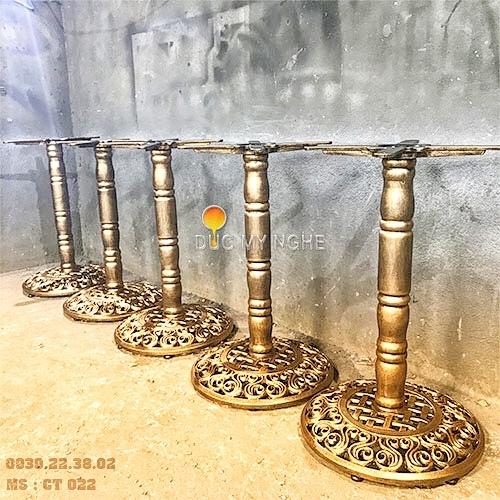Chân Bàn Trà Sữa Sắt Ống Đế Tròn Gang Đúc - Cafe Quán Ăn CT022