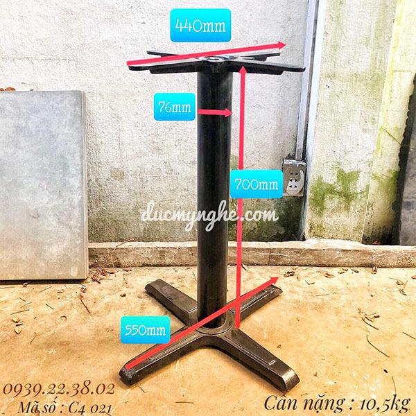 Chân Bàn Trụ Sắt Cafe 4 Chân Gang Đúc Giá Rẻ - Quán Ăn C4021