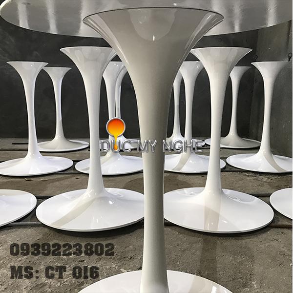 Chân Bàn Tulip Cafe Nhà Hàng Đế Tròn 500mm Nhôm Đúc CT016