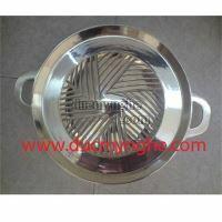 Chảo lẩu chiên hàn quốc đúc bằng đồng xi crom nhà hàng quán ăn NC002