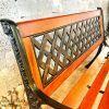 Ghế Băng Dài Gỗ Căm Xe Gang Đúc Công Viên Ngoài Trời Sân Vườn GD001 - Hình 4