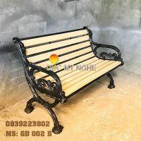 Ghế Băng Dài Công Viên Gang Đúc Gỗ Nhựa Ngoài Trời Sân Vườn Giá Rẻ Tphcm GD002B