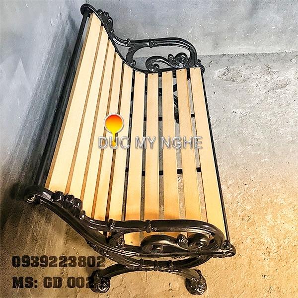 Ghế Băng Dài Gỗ Nhựa Chân Gang Đúc - Ngoài Trời Công Viên GD002B