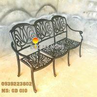 Ghế Băng Dài Ngồi Chờ Nhôm Đúc - Ngoài Trời Sân Vườn Đẹp ở Tphcm GD010