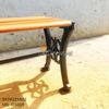 Ghế Bench Gang Đúc Dài Ngồi Chờ Không Lưng Tựa Ngoài Trời GB005 - Hình 5