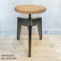 Ghế Cafe Ngoài Trời Nhôm Đúc Cổ Điển Gỗ Sồi Sơn Tĩnh Điện Đẹp Cao Cấp Ở Tphcm GCN004