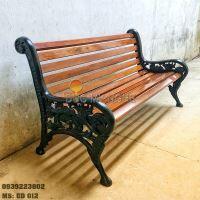 Ghế Công Viên Gang Đúc Gỗ Ngoài Trời Sân Vườn Biệt Thự Đẹp Nhất Tphcm GD002