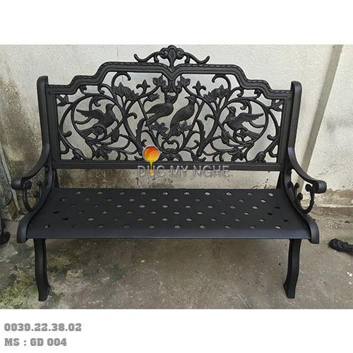 Ghế Băng Công Viên Ngoài Trời Sân Vườn Nhôm Đúc Sơn Màu Đồng Cổ GD004
