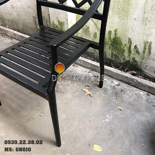 Ghế Nhà Hàng Hợp Kim Nhôm Đúc Ngoài Trời - Khách Sạn GN010