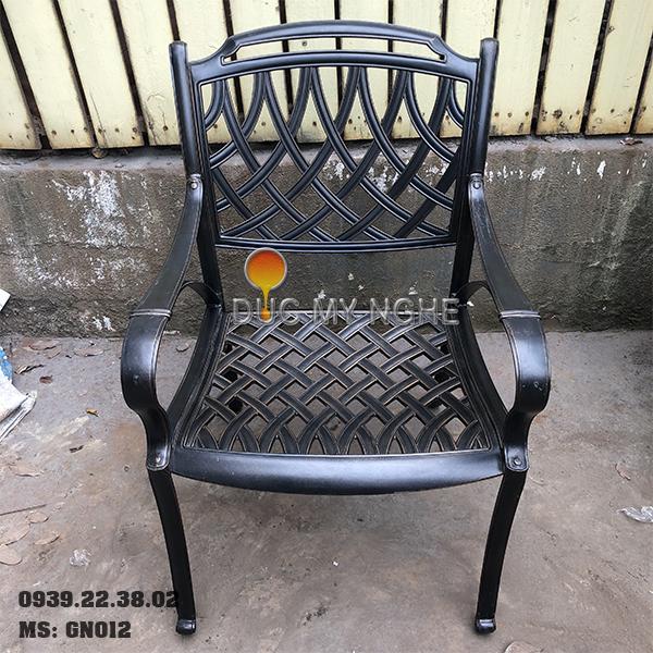 Ghế Nhà Hàng Hơp Kim Nhôm Đúc - Sân Vườn - Ngoài Trời GN012