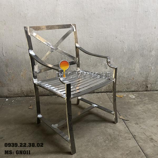 Ghế Nhà Hàng Nhôm Đúc Ngoài Trời Sơn Tĩnh Điện Nệm Ngồi GN011
