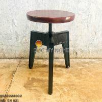 Ghế Nhôm Đúc Cafe Ngoài Trời Tăng Cao Thấp Không Lưng Tựa GN021
