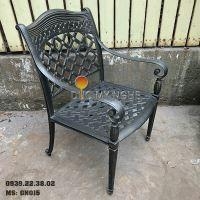 Ghế Nhôm Đúc Ngoài Trời Có Tay Vịn Cafe Nhà Hàng Khách Sạn GN015