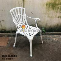 Ghế Nhôm Đúc Ngoài Trời Có Tay Vịn Nhà Hàng Cafe Gia Đình GN003